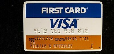 First Card Visa credit card exp 1986♡Free Shipping♡cc692