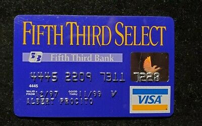 Fifth Third Select Visa credit card exp 1999♡Free Shipping♡ cc698
