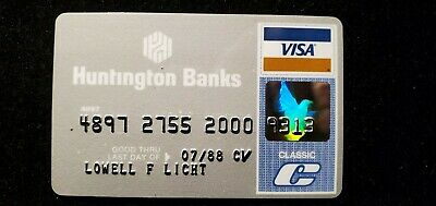Huntington Banks Visa credit card exp 1979♡Free Shipping♡cc695