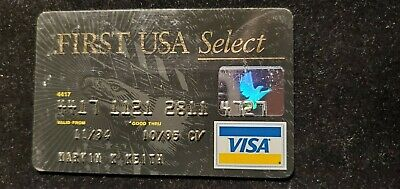 First USA Select Visa credit card exp 1995♡Free Shipping♡ cc702