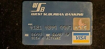 West Suburban Banking Visa credit card exp 1997♡Free Shipping♡cc691