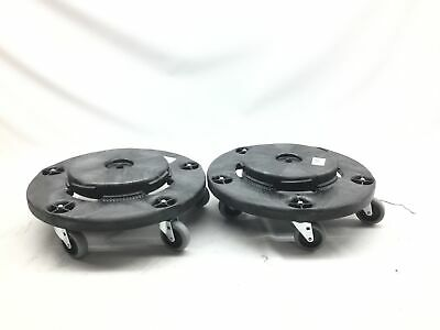 Rubbermaid Commercial Products FG264000BLA Brute Twist on/Off Round Dolly - Pack