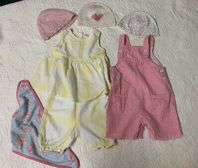 baby girl clothes Outfit Bundle with next hats 0-3 months ( fitting up to 6m)