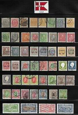 Collection of Old Stamps from Iceland . . . . . . . (3 pages)