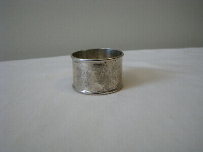 Chinese Export Solid Silver Napkin Ring