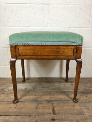 Antique Edwardian Mahogany Piano Stool or Musician Stool - Delivery Available