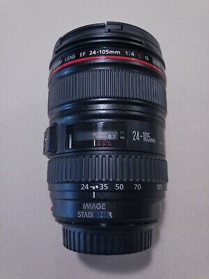 Mint Condition Canon EF 24-105mm F/4 L IS USM Lens and Lens Hood