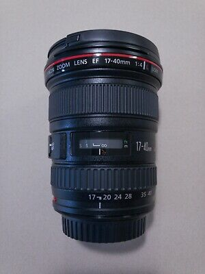 Mint Condition Canon EF 17-40 mm f/4 L USM Lens and Lens Hood