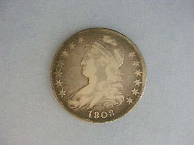 1808 Capped Bust Silver Half Dollar, Lettered Edge, Fine to Very Fine Condition