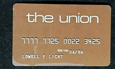 The Union charge card exp 1986♡Free Shipping♡cc1056♡