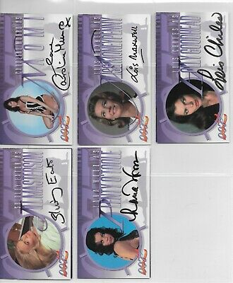 JAMES BOND A2 LOIS MAXWELL INKWORKS autograph 5 cards Eaton Munro Wood Chiles