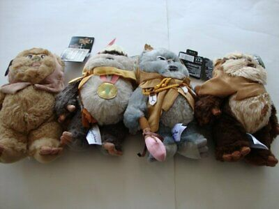 Disney Parks Star Wars Ewok Plush 9 inch - Wicket, Kaink, Romba & Latara - NEW