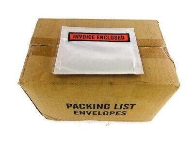 """4.5"""" x 5.5"""" Invoice Enclosed Packing List Envelopes Panel Face 6000 Pieces"""