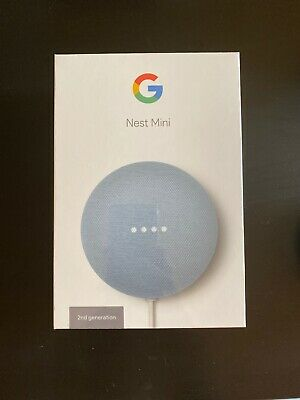 Google Home Nest Mini (2nd Generation) Smart Speaker - Sky
