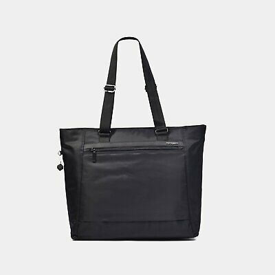 "Hedgren Elvira  Large 15""2 Compartment Tote RFID - BLACK- BRAND NEW!"