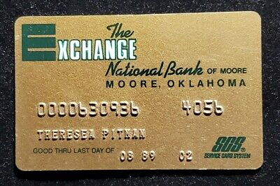 The Exchange National Bank of Moore Oklahoma charge card♡free shipping♡cc1065♡