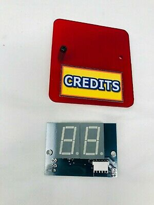 Slam-A-Winner CREDITS NUMBER DISPLAY BOARD PCB ARCADE REDEMPTION GAME Benchmark