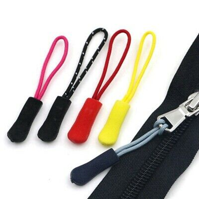 10pcs Zipper Pull Puller End Fit Rope Tag Fixer Zip Tab Clip Buckles us