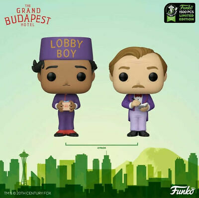 ECCC 2020 Exclusive Funko Pop GRAND BUDAPEST HOTEL ZERO GUSTAVE Con Sticker