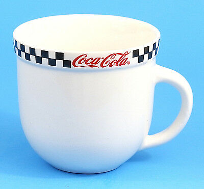 Coca-Cola Ceramic Cup Mug EUC Great Condition by Gibson 2002 White Red Black