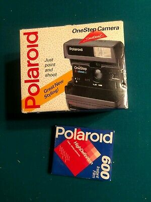 Polaroid Onestep Instant Camera - Includes Box Of Instant Film - New