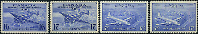 Canada #CE1-CE4 mint VF OG NH/LH/HR/DG 1942-1946 Airmail Special Delivery Set
