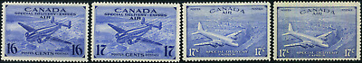 Canada #CE1-CE4 mint F-VF/VF OG NH/H/HR 1942-1946 Airmail Special Delivery Set