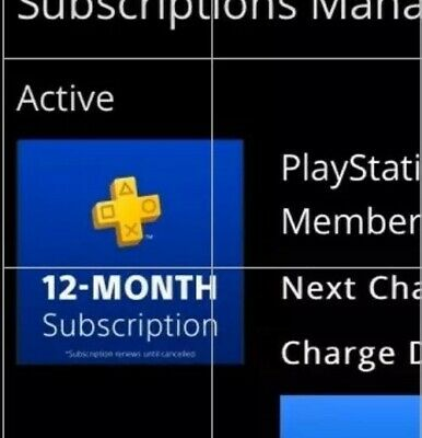 Sony PlayStation Plus 1 Year Membership Subscription Card - NEW! Instant