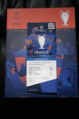 Spurs v Liverpool 2019 Champions League Final Programme and Ticket