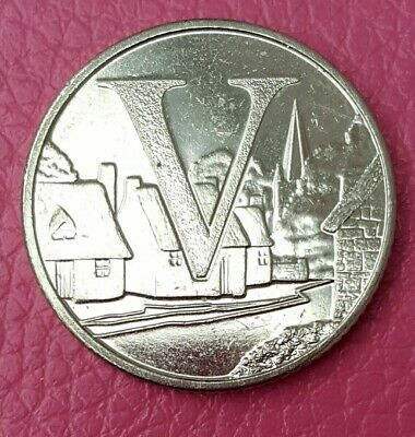 2018 A-Z 10p Coin Alphabet Letter V Village. Circulated.
