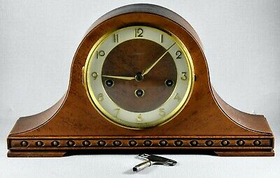 Antique Tempora Napoleon Hat Westminster 8 Day Mantle Clock