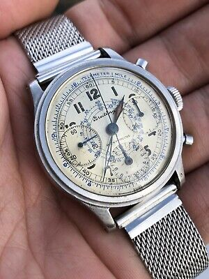 Breitling Tricompax steel antimagnetic chronograph