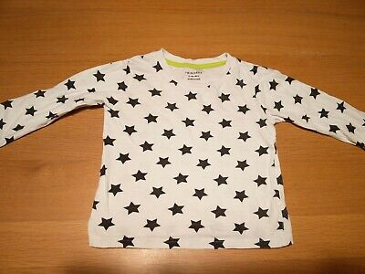 PRIMARK Black Star Baby Boys White Long Sleeved Tshirt Top Size 12-18 Months Age