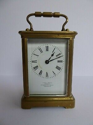 SUPERB Orig ANTIQUE 19th/20thC FRENCH Carriage Clock R&Co HENRY WELLS Shrewsbury