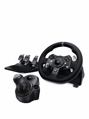 Logitech G920 Steering Wheel with shifter and pedals for Xbox One PC - Black