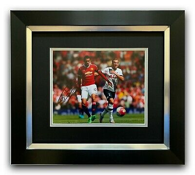 Chris Smalling Hand Signed Photo Framed Display - Manchester United Autograph.