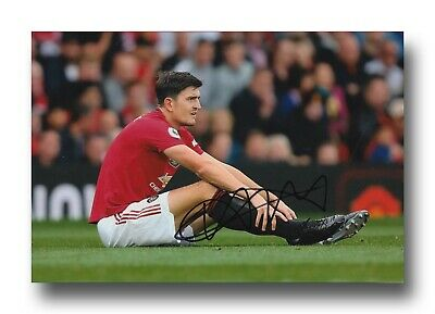 Harry Maguire Hand Signed 12X8 Photo - Manchester United Autograph - Football.