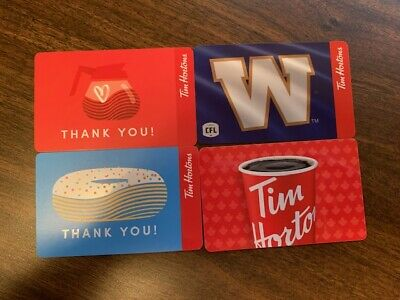 Tim Hortons Gift Cards - Set of 4