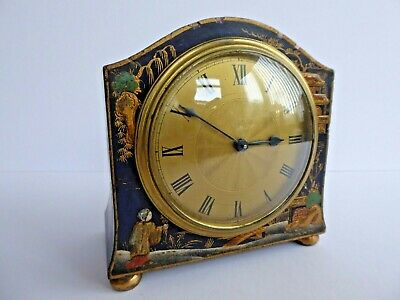 SUPERB Orig VINTAGE Early 20thC FRENCH/ENG Art Deco CHINOISERIE Mantle Clock