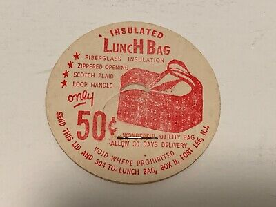 """""""Insulated Lunch Bag Offer"""" Dairy Milk Bottle Cap"""