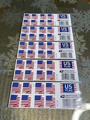 Forever Stamps Set Of 5 Strips Each Strip Has 20 USPS Forever Stamps