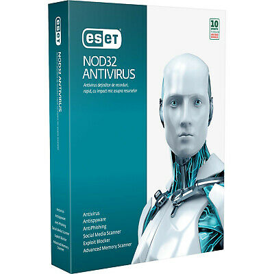 ESET NOD 32 ANTIVIRUS  2019 3 PC ---1-2 año