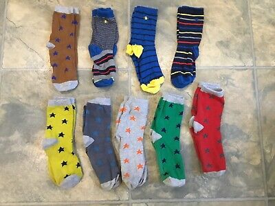 Bundle Of 9 Pairs Of Boys Mini Boden And Penguin Socks Age 7-10