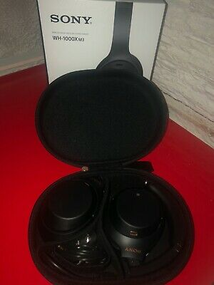 Sony WH-1000XM3 Wireless Noise Cancelling Headphones - Black.