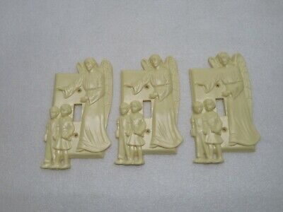 Vintage 3 Hartland Plastics Guardian Angel Switch Plates New Never Mounted