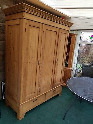 Lovely Antique Victorian Pine Knock Down Wardrobe