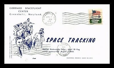 Dr Jim Stamps Us Space Tracking Andromeda Cachet Event Cover 1970