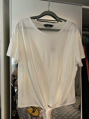 Brand New with tags Womens/girls F+F cream tshirt/top size 16