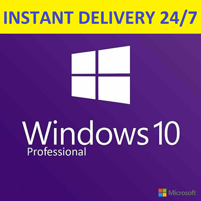 INSTANT Microsoft Windows 10 ProF Key Product Key License Code 32 / 64 bit-5secs
