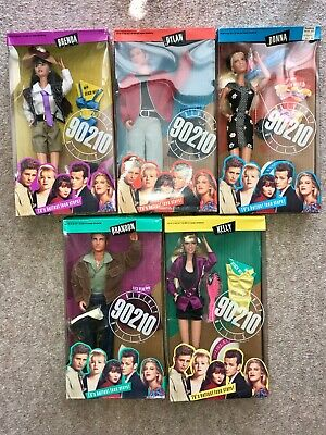 Vintage 1991 Beverly Hills 90210 Dolls Complete Set 5 Mattel Factory Sealed, NIB